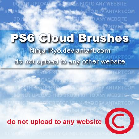 PS6 BRUSHES Clouds by Ninja-Ryo photoshop resource collected by psd-dude.com from deviantart