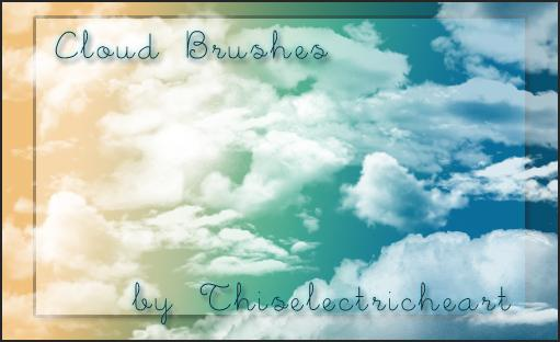 Real Cloud Brushes by thiselectricheart photoshop resource collected by psd-dude.com from deviantart