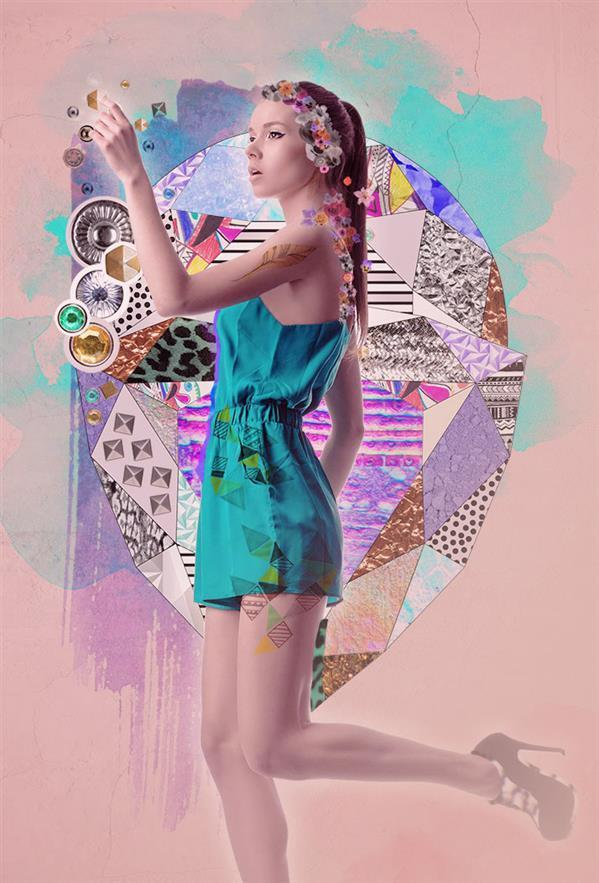 Fashion photo collage Photoshop tutorial