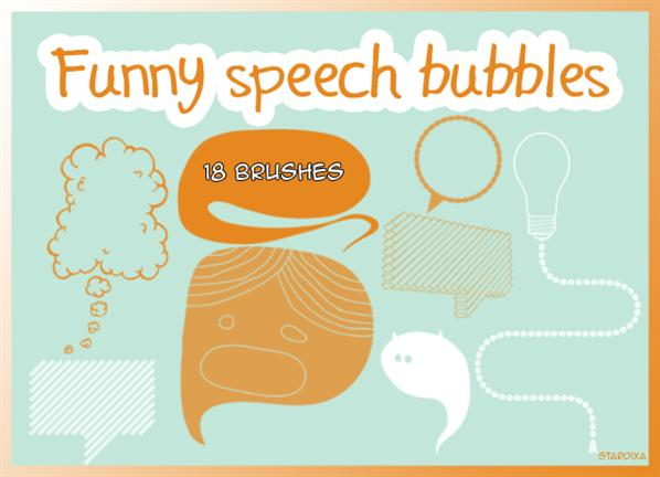 Funny speech bubblesBrush strokesFloral brushesFunny speech bubblesHearts brushesSpeech bubbles brushes by stardixa photoshop resource collected by psd-dude.com from deviantart