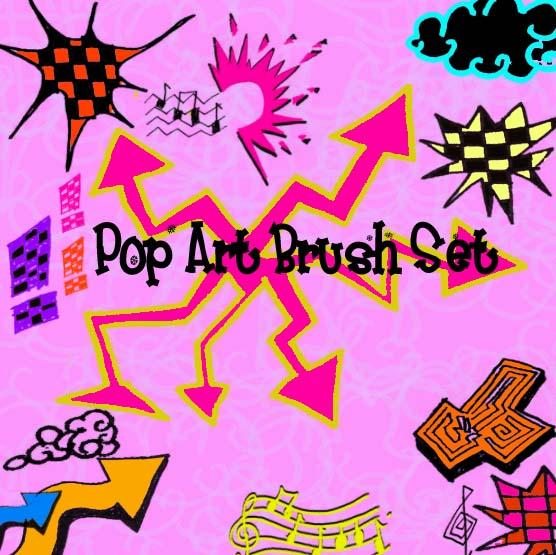Pop Art BrushesRainbowPink Cup CakesLol CupcakesThe CupcakesMemories by circle--of--fire photoshop resource collected by psd-dude.com from deviantart