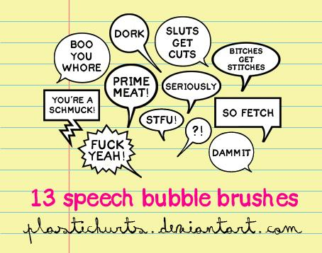 Speech Bubble Brusheslittle birdssweet and lowUNUSUALDoodle Lyric BrushesSpeech Bubble Brushes by plastichurts photoshop resource collected by psd-dude.com from deviantart