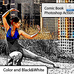 <span class='searchHighlight'>Comics</span> Action in Photoshop psd-dude.com Resources