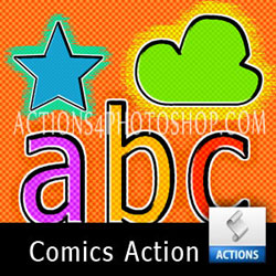 Comics Text Photoshop Action psd-dude.com Resources