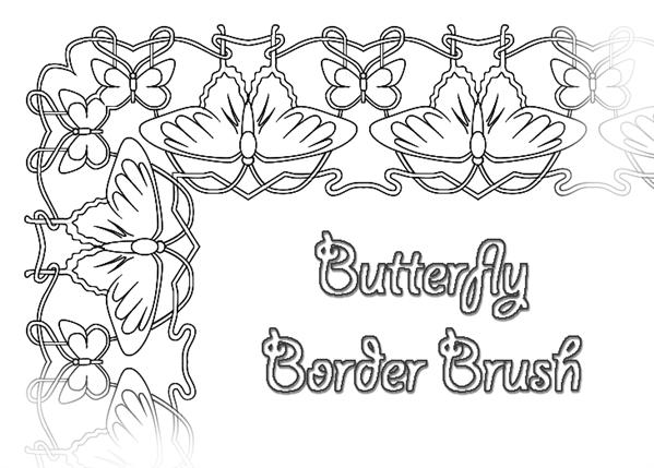 Butterfly Border Brush 1 by copper-mountain-king photoshop resource collected by psd-dude.com from deviantart