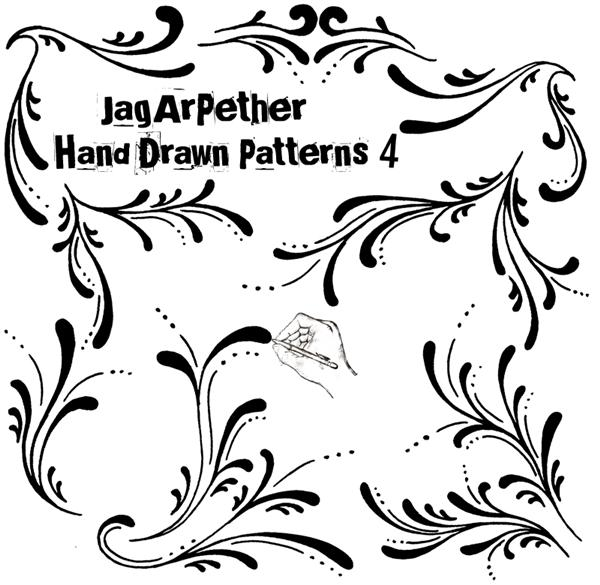 Hand Drawn Patterns 4 by JagArPether photoshop resource collected by psd-dude.com from deviantart