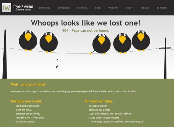 Design an effective 404 error page