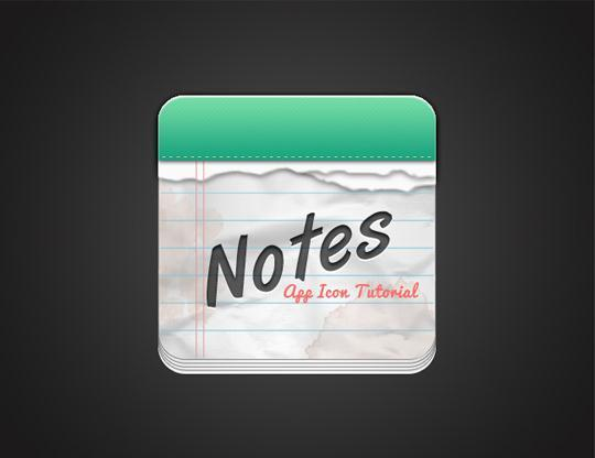 Create a Note Paper App Icon