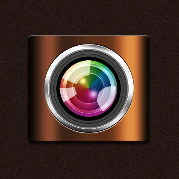 How to create a camera app icon in Photoshop