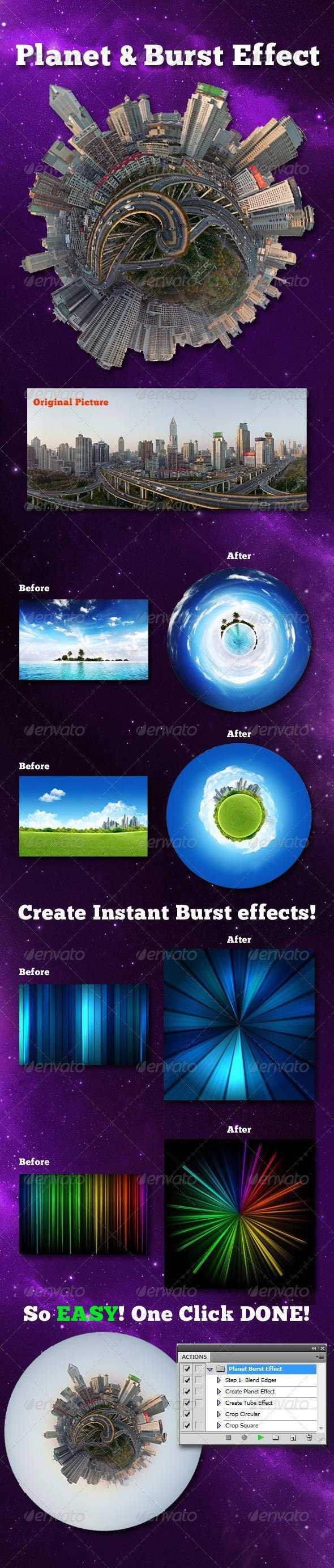 Little Planet Burst Effect Photoshop Creator