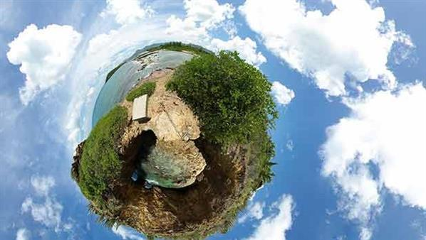 Photoshop cs6 create little planet effect from a panorama picture