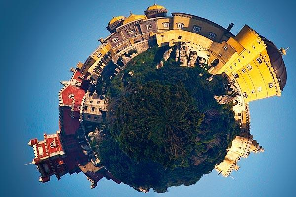 Using polar coordinates to turn landscapes into planets in Photoshop