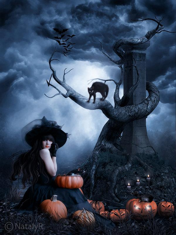 Halloween night by Nataly1st photoshop resource collected by psd-dude.com from deviantart