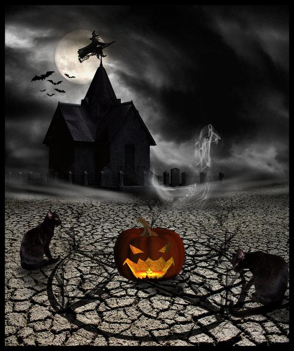 Halloween Scenery by MorbidMorticia photoshop resource collected by psd-dude.com from deviantart