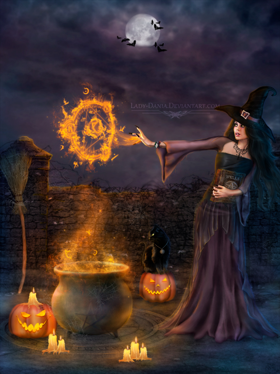 Halloween Spells by Lady-Dania photoshop resource collected by psd-dude.com from deviantart