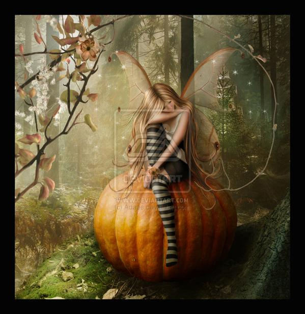 Pumpkin Fae by Adaae photoshop resource collected by psd-dude.com from deviantart