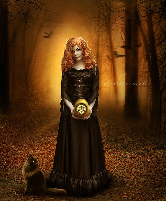 Timewitches Halloween by LadyLunia photoshop resource collected by psd-dude.com from deviantart
