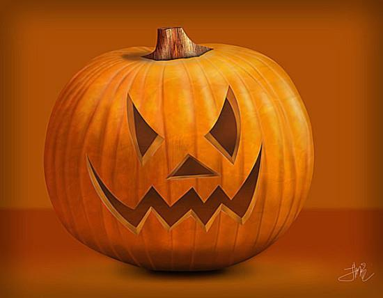 Draw halloween pumpkin in photoshop