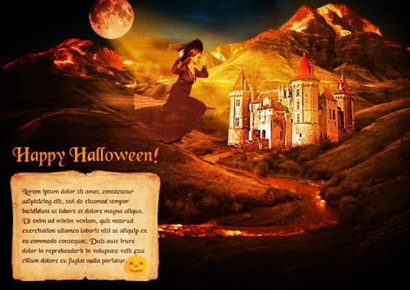 halloween e card photoshop tutorial