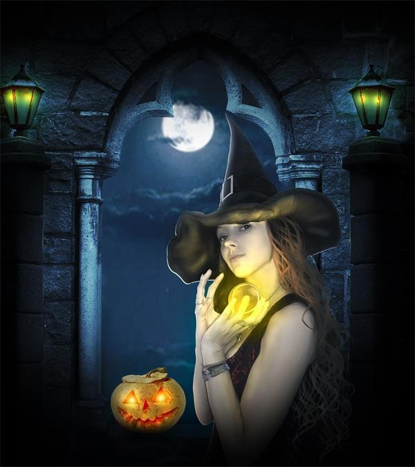 Halloween Evil Witch Photoshop Tutorial