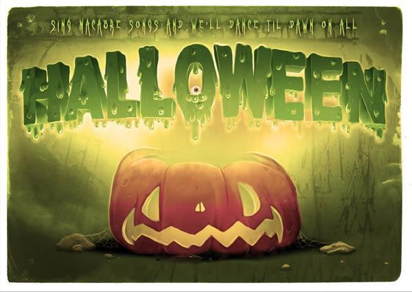 Halloween Pumpkin Typography in Photoshop