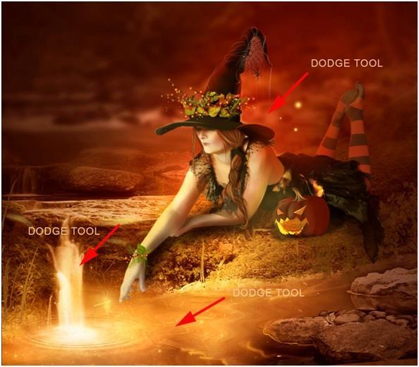 Night of Witch Spells Photoshop Tutorial