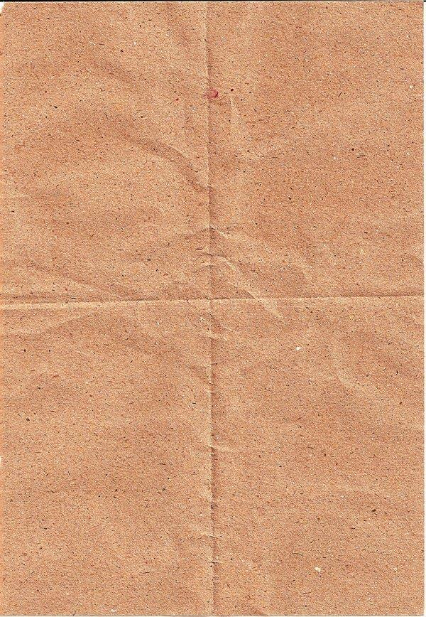 Creased Brown Paper Page