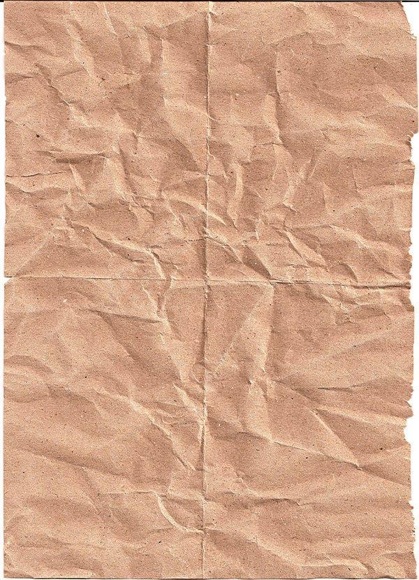 Crinkled Brown Paper Texture