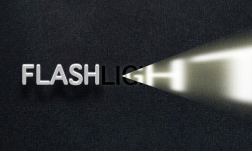 CSS3 Flash Light Text Free Code
