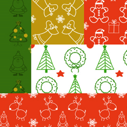 Photoshop Pattern Set for <span class='searchHighlight'>Christmas</span> Time psd-dude.com Resources