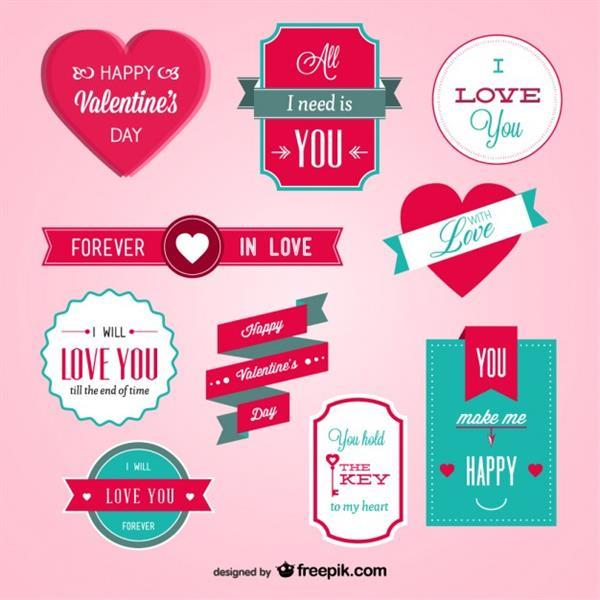 Valentine s day badges (FREE)