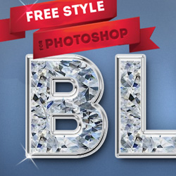 Diamond Photoshop Free <span class='searchHighlight'>Text</span> Style | PSDDude psd-dude.com Resources