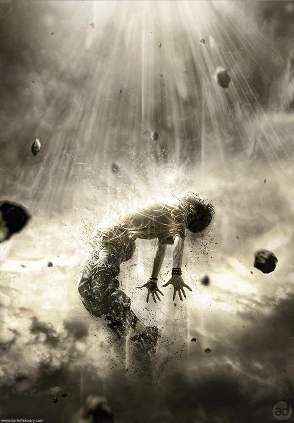 Human disintegration effect Photoshop tutorial