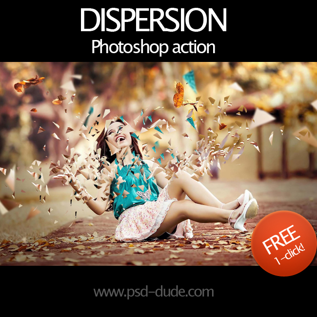 Dispersion Effect Photoshop Free Action | PSDDude