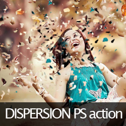 dispersion effect photoshop action free download