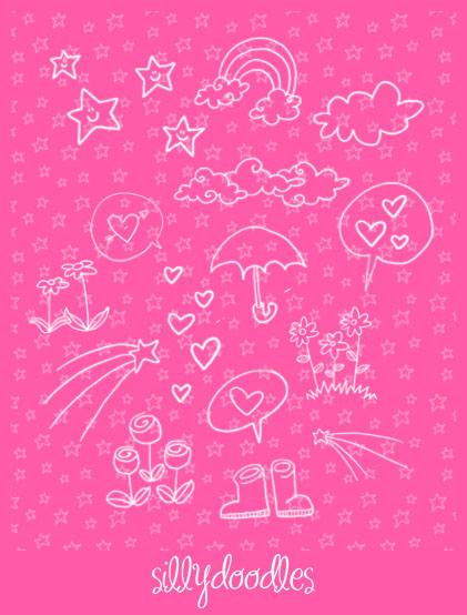 Doodles by arwenita photoshop resource collected by psd-dude.com from deviantart