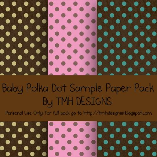 Baby Polka Dot Sample Paper Pack by frenzymcgee photoshop resource collected by psd-dude.com from deviantart