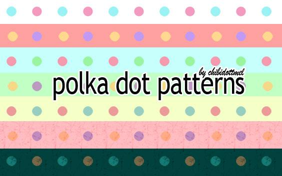 Polka Dot Patterns by chibidottmel photoshop resource collected by psd-dude.com from deviantart