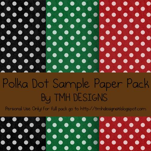 Polka Dot Sample Paper Pack by frenzymcgee photoshop resource collected by psd-dude.com from deviantart