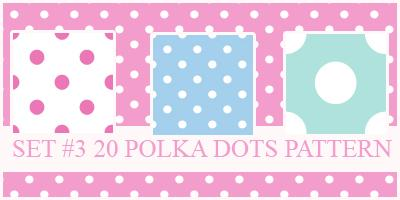 Polka Dots Pattern by xVanillaSky photoshop resource collected by psd-dude.com from deviantart