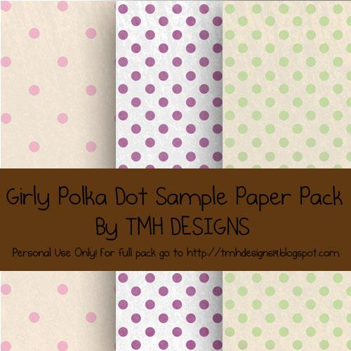 Sample Girly Polka Dot Paper Pack by frenzymcgee photoshop resource collected by psd-dude.com from deviantart