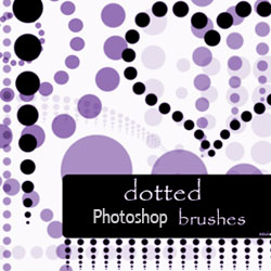 Dotted Photoshop Brushes psd-dude.com Resources