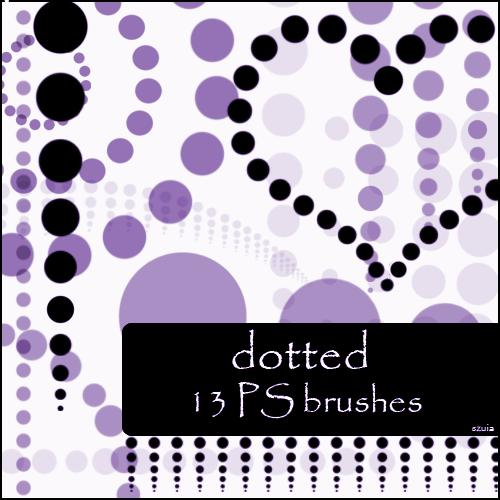 dotted brushes by szuia photoshop resource collected by psd-dude.com from deviantart