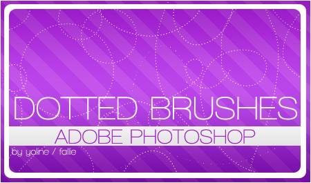dotted brushes by fallie photoshop resource collected by psd-dude.com from deviantart