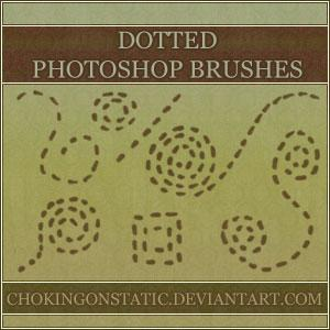 dotted doodle brushes by chokingonstatic photoshop resource collected by psd-dude.com from deviantart