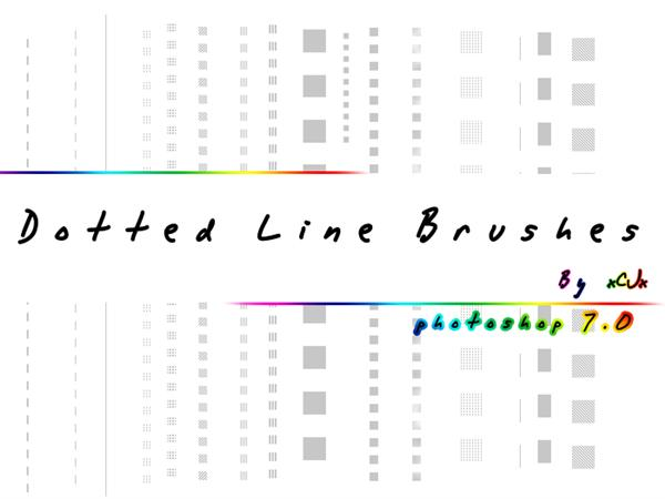 Dotted Line brushes by xCJx photoshop resource collected by psd-dude.com from deviantart