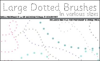 Large Dotted Brushes by wickedwitch666 photoshop resource collected by psd-dude.com from deviantart