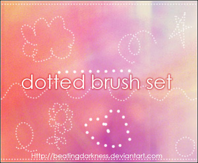 dotted brushes photoshop resource collected by psd-dude.com from deviantart