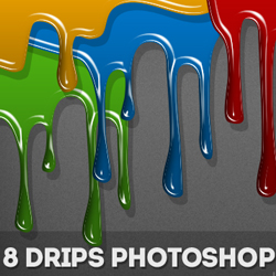 Drip Photoshop Vector Shapes psd-dude.com Resources
