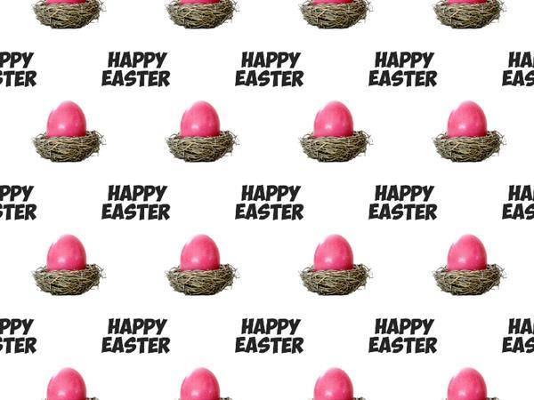 Happy Easter Seamless Background Free